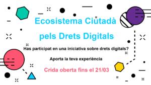 Participa en la recollida d'iniciatives ciutadanes en defensa dels drets digitals
